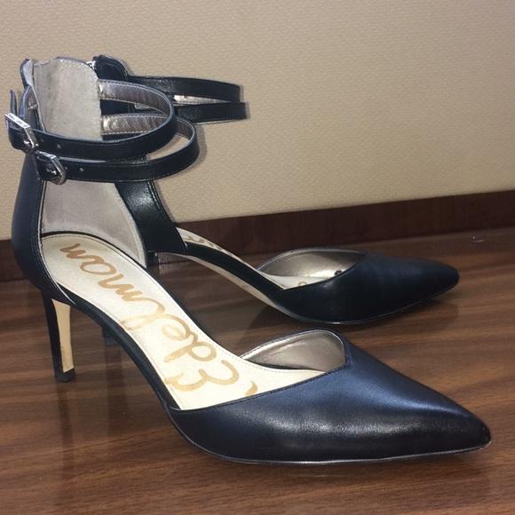 4a18ba1dc6ebc Sam Edelman Shoes - Sam Edelman Black Oriana Heels 7.5 Ankle Strap 🐾
